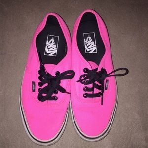 Vans hot pink shoes